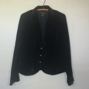 Vintage CALVIN KLEIN JEANS Black Velvet Blazer L
